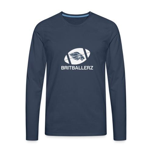 Britballerz white logo - Men's Premium Longsleeve Shirt