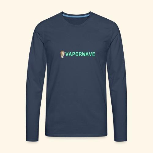 Roman Statue Vaporwave - T-shirt manches longues Premium Homme