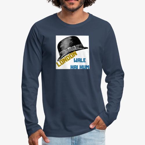 LONDON WALE - Långärmad premium-T-shirt herr