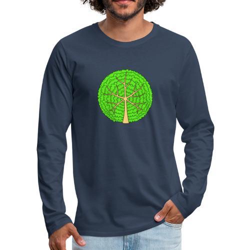 Baum, rund, hellgrün - Männer Premium Langarmshirt