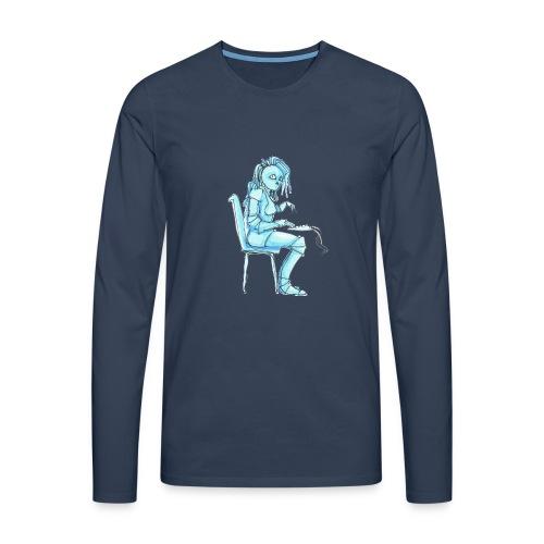 blue robot trimmed2 - Men's Premium Longsleeve Shirt