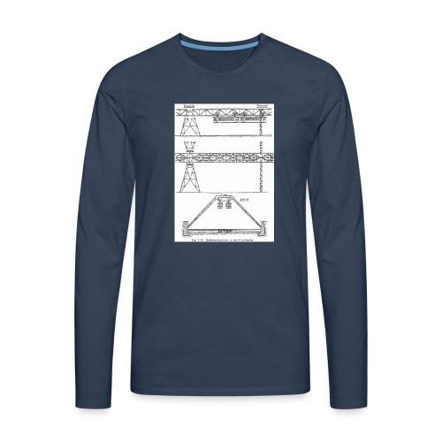 Schwebebahnskizze - Männer Premium Langarmshirt