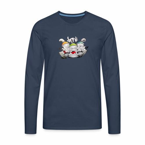 Dont ! Tim Timmey - Herre premium T-shirt med lange ærmer
