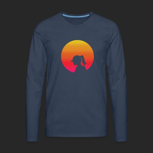 Gradient Girl - Men's Premium Longsleeve Shirt