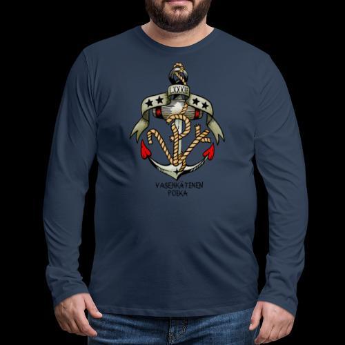 VP Ankkuri Väreillä - Miesten premium pitkähihainen t-paita