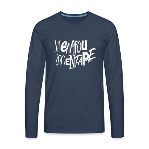 MENFOUMENTAPE (blanc sans contours) by Alice Kara - T-shirt manches longues Premium Homme