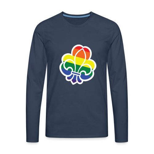Regnbuespejder tilted - Herre premium T-shirt med lange ærmer