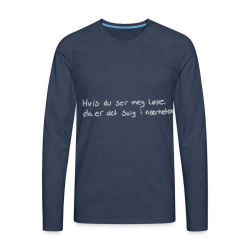 Salg løpe - Premium langermet T-skjorte for menn