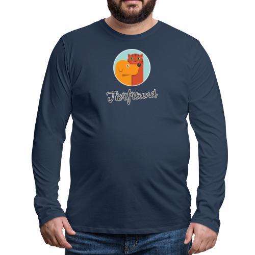 Tierfreund mit Schriftzug - Männer Premium Langarmshirt