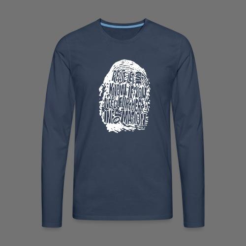Fingerprint DNA (white) - Männer Premium Langarmshirt