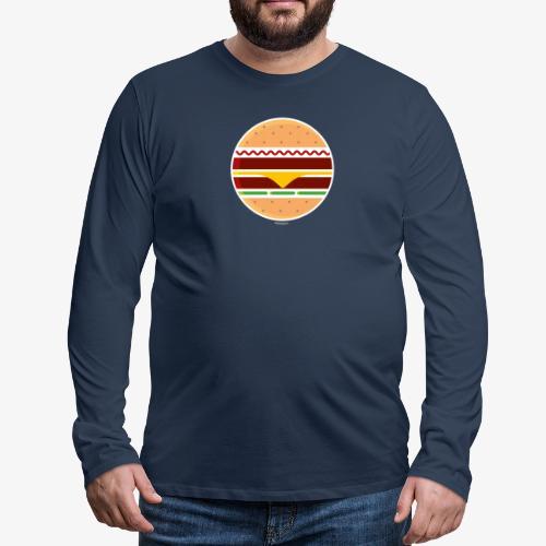Circle Burger - Maglietta Premium a manica lunga da uomo