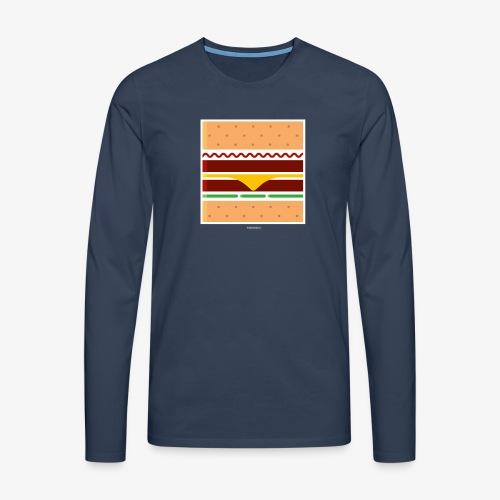 Square Burger - Maglietta Premium a manica lunga da uomo