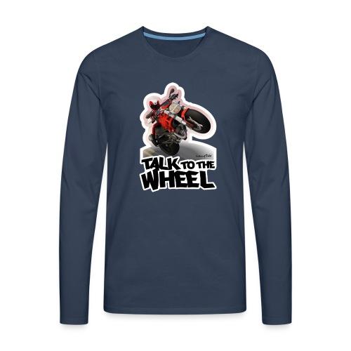 Ducati Monster Wheelie B - Camiseta de manga larga premium hombre
