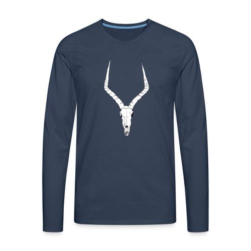 Antelope ANIMAL skull - Men's Premium Longsleeve Shirt