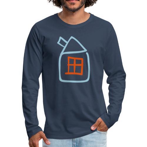 House Outline Pixellamb - Männer Premium Langarmshirt