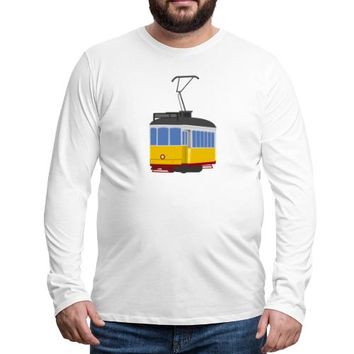 Tram car yellow - Men's Premium Longsleeve Shirt