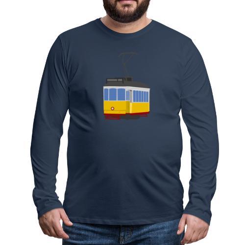 Tram car yellow - Men's Premium Longsleeve Shirt