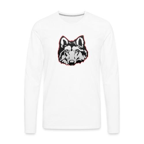 Wolfie (Red) - Men's Premium Longsleeve Shirt