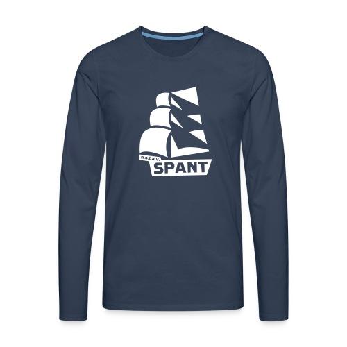 SPANT logo zwart - Mannen Premium shirt met lange mouwen