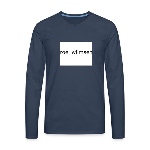 roel doet youtube - Mannen Premium shirt met lange mouwen