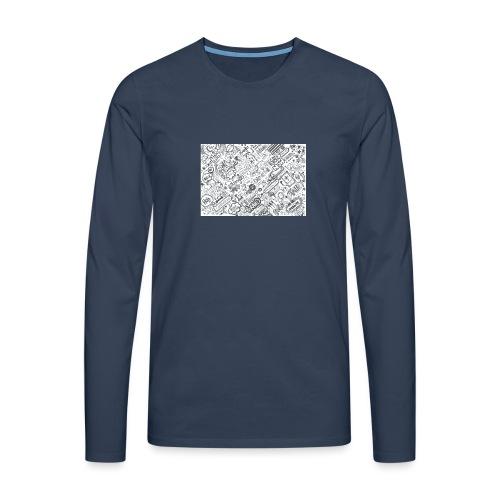 Doodle - Koszulka męska Premium z długim rękawem