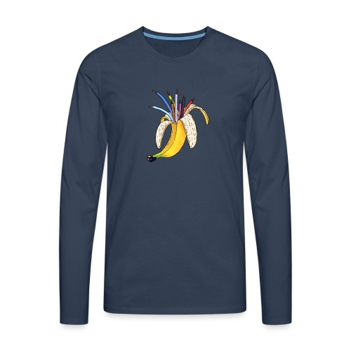 BANAAN 08 - Mannen Premium shirt met lange mouwen