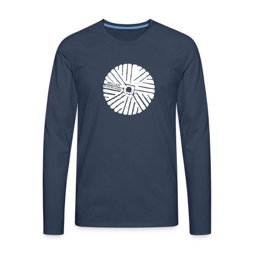 White chest logo sweat - Men's Premium Longsleeve Shirt