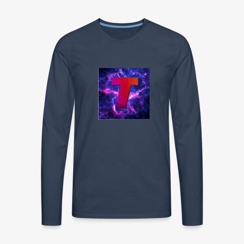 Tsunami Logo - Premium langermet T-skjorte for menn