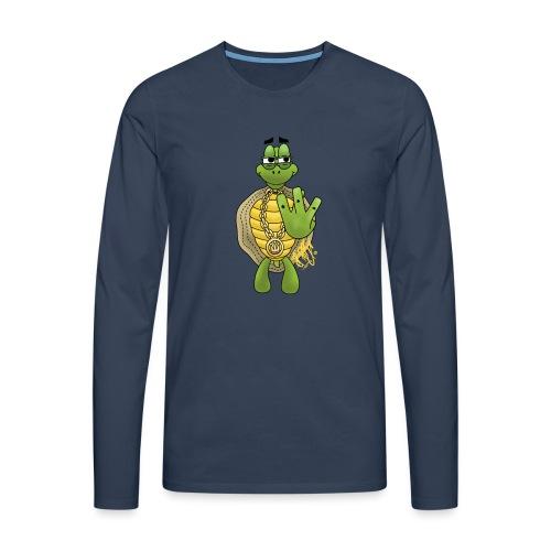 Graffiti Hip-Hop West-Coast Turtle / Schildkröte - Männer Premium Langarmshirt