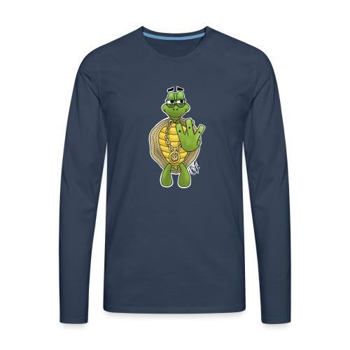 West Coast Schildkröte / Hip-Hop Turtle - Männer Premium Langarmshirt