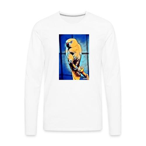 Bird in color - Miesten premium pitkähihainen t-paita