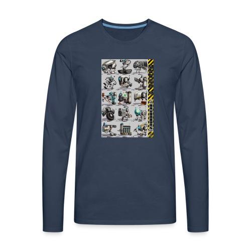 March of Rawrobots 01-15 - Herre premium T-shirt med lange ærmer