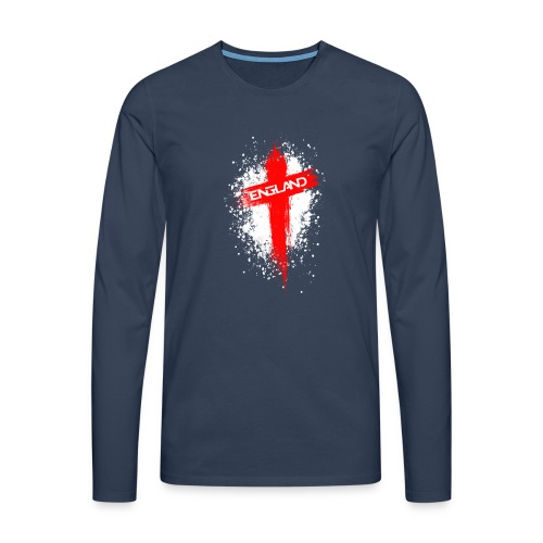 England Painted-Red - Men's Premium Longsleeve Shirt
