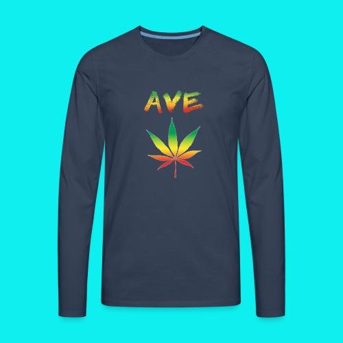 AveMarija - Maglietta Premium a manica lunga da uomo