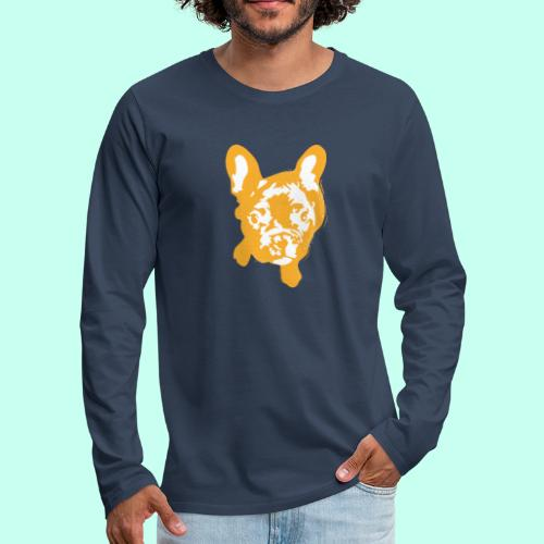 Bulldogge Beige schauend - Männer Premium Langarmshirt