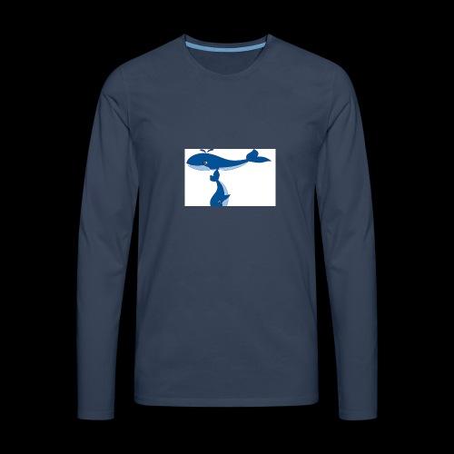 whale t - Men's Premium Longsleeve Shirt
