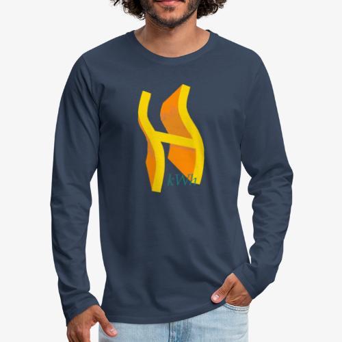Wasserstoff - Männer Premium Langarmshirt