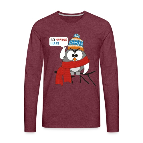 Cold bird - Miesten premium pitkähihainen t-paita