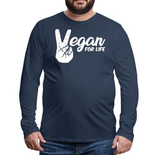 Vegano per la vita - Maglietta Premium a manica lunga da uomo