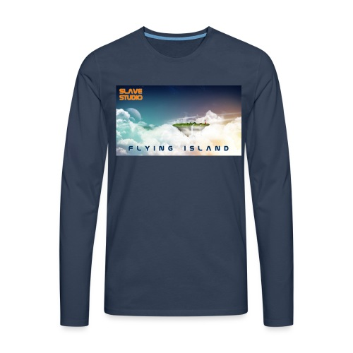 flying island - Maglietta Premium a manica lunga da uomo