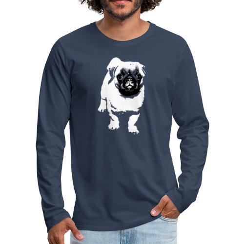 Mops Hund Hunde Möpse Geschenk - Männer Premium Langarmshirt