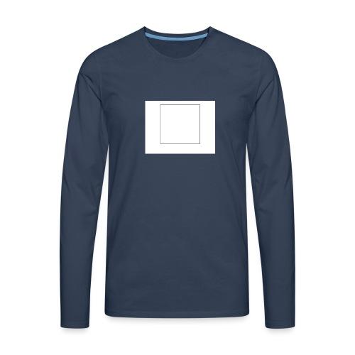 Square t shirt - Mannen Premium shirt met lange mouwen