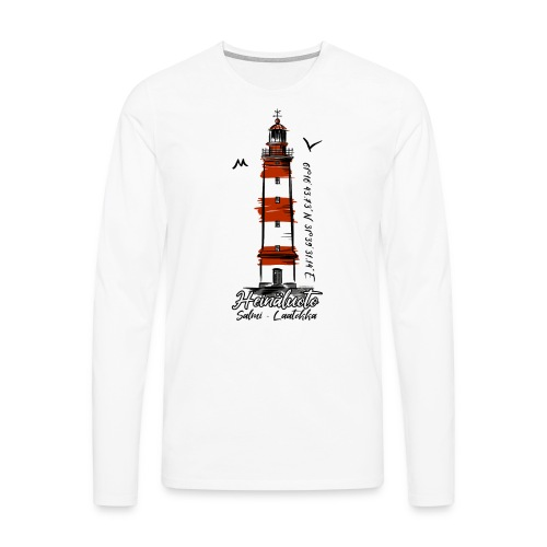 Old Finnish Lighthouse HEINÄLUOTO Textiles, Gifts - Miesten premium pitkähihainen t-paita
