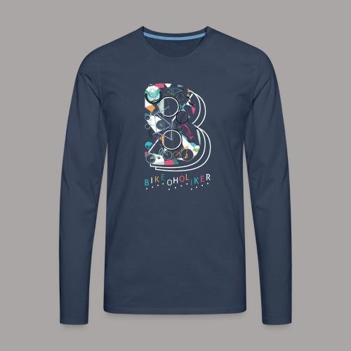 Bikeoholiker Tshirt für Frauen - Männer Premium Langarmshirt