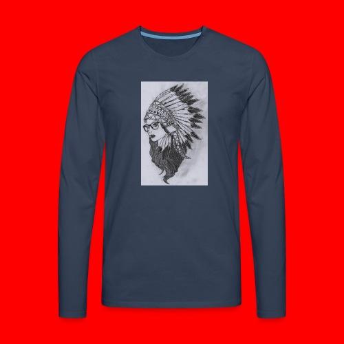 indian - Maglietta Premium a manica lunga da uomo