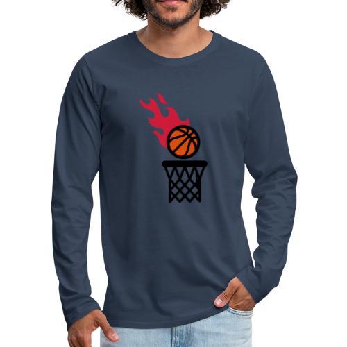 fire basketball - Men's Premium Longsleeve Shirt