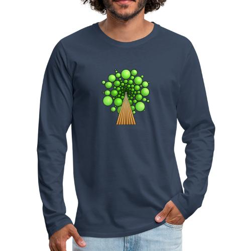 Kugel-Baum, 3d, hellgrün - Männer Premium Langarmshirt