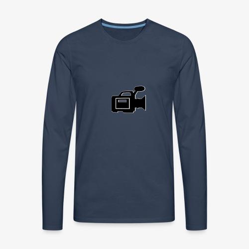 camera - Herre premium T-shirt med lange ærmer