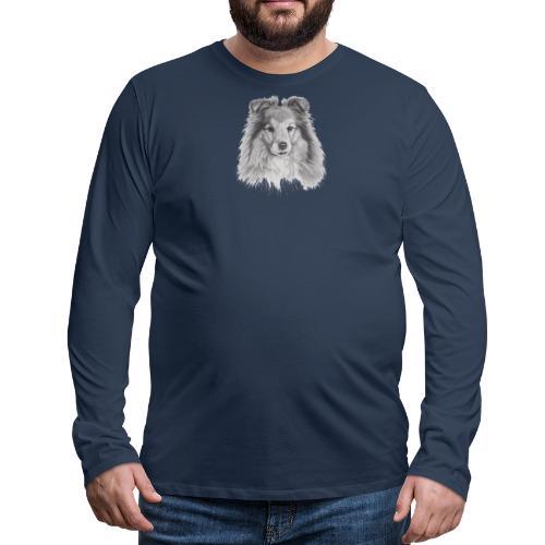 shetland sheepdog sheltie - Herre premium T-shirt med lange ærmer