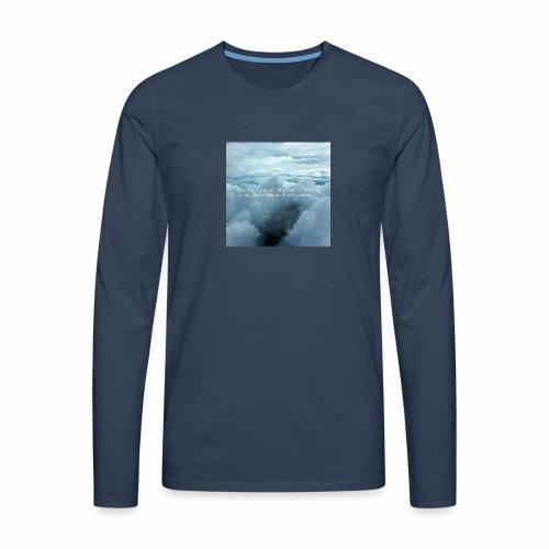 Blue Sky - Maglietta Premium a manica lunga da uomo